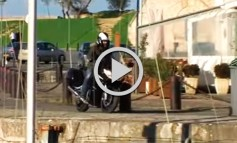 Espectacular accidente de Moto en el Puerto