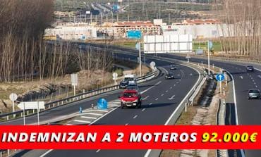 La Junta indemniza con 92.000€ a dos moteros porque la autovía estaba mal..!!