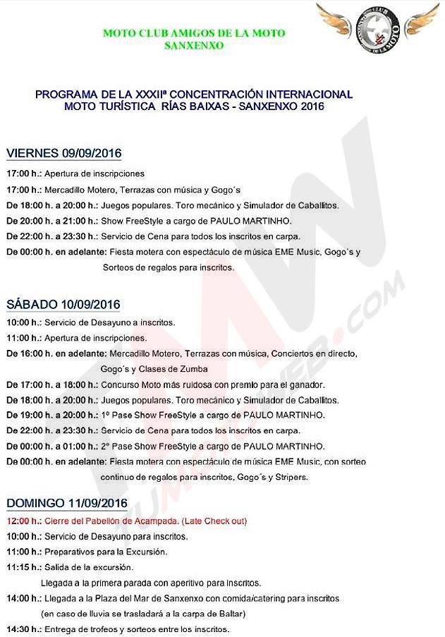 Programa MotoClub El Fogonazo Noviembre 2015
