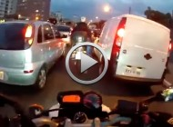 Conducción extrema en pleno atasco urbano