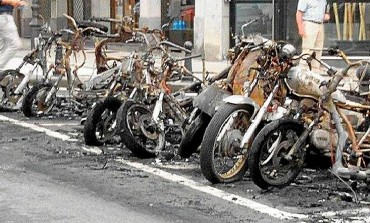 Sorprendido in fraganti el sospechoso de incendiar motos en Donostia