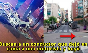 Buscan a un conductor que dejó en coma a una motorista y huyó