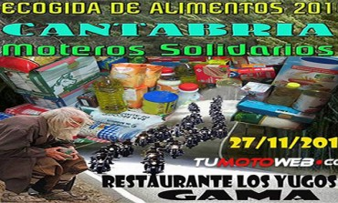 Moteros Solidarios Cantabria Recogida de Alimentos 2016