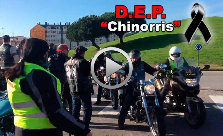 Centenares de motoristas despiden a su compañero Chinorris fallecido en la autopista Y