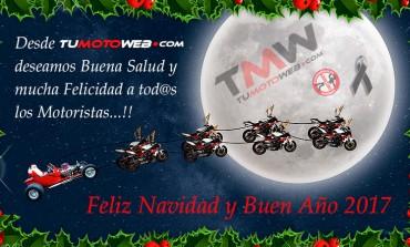 Feliz Navidad y Buen Año 2017 para tod@s los Motoristas..!!