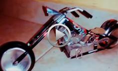 Motos Custom realizadas con materiales reciclables