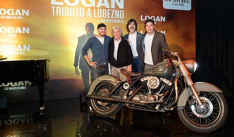 Presentación en Madrid de la Moto de Logan (Tributo a Lobezno)