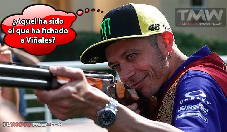 ¿En que piensa Valentino Rossi mientras apunta con la escopeta?