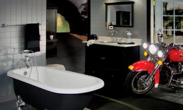 Moto hasta en el cuarto de baño