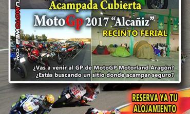 Acampada Cubierta GP MotoGP Motorland Aragón 2017