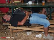 Motorista algo cansado en el Oasis de la Concentración de Faro