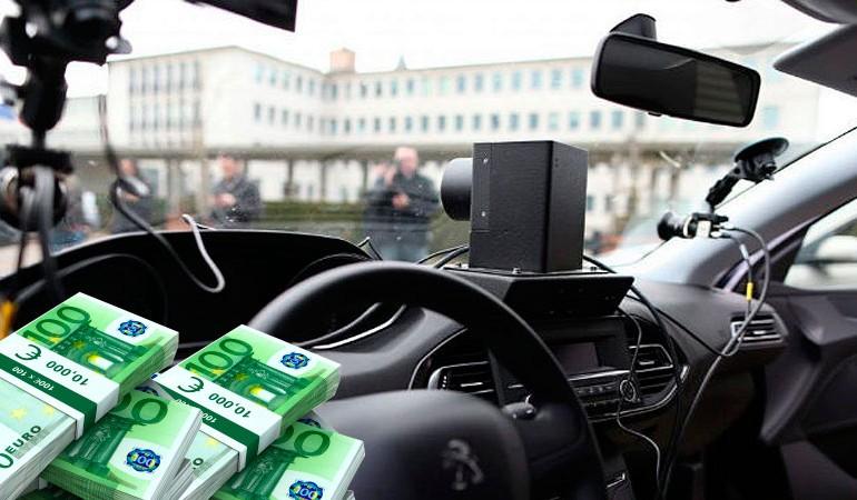 En Francia actuarán radares en coches de conductores particulares