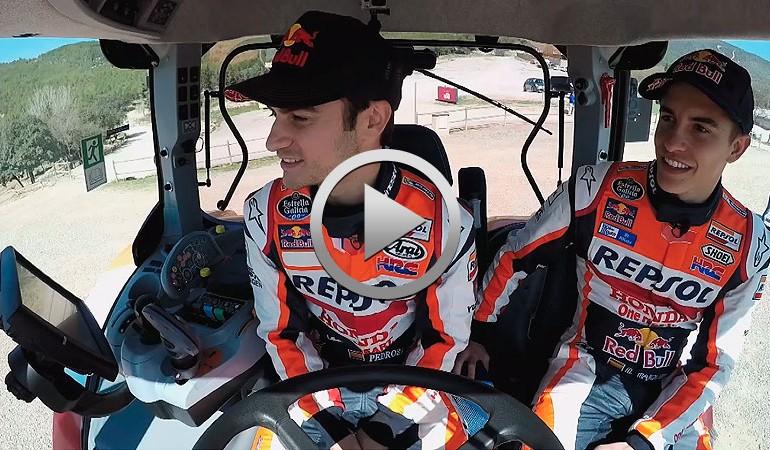 Marc Márquez y Dani Pedrosa, ganadores del primer TractorGP