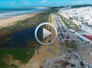 Aplazada Concentración de Conil 2018. Vista de dron, tras la borrasca Emma