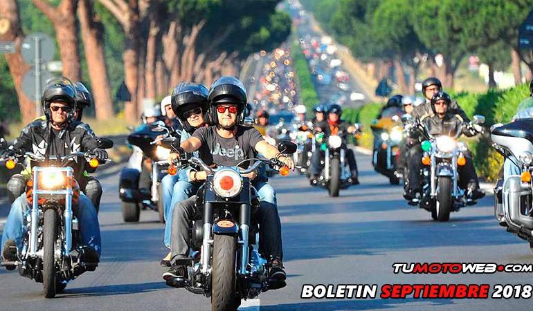 BOLETÍN SEPTIEMBRE 2018 – Concentraciones, Acampadas MotoGP, Logos del mes