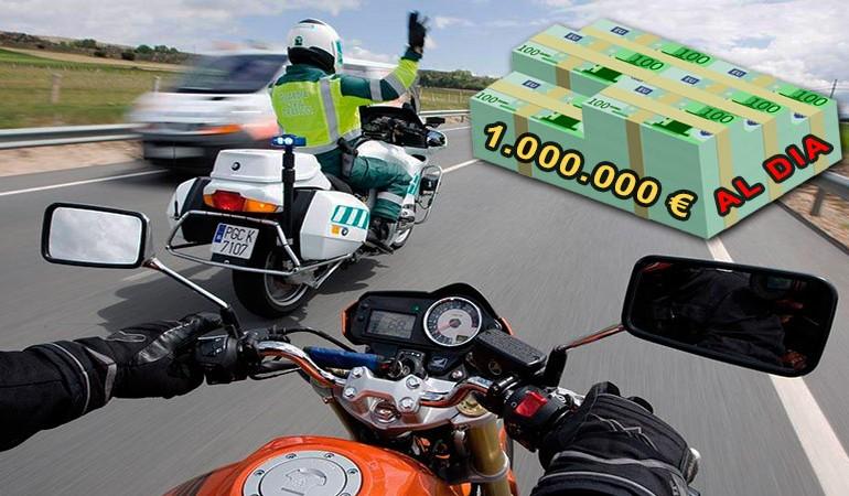 La DGT ingresa más de 1 millón de euros en multas al día