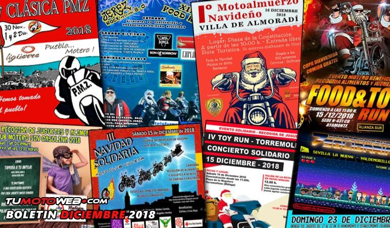 BOLETÍN DICIEMBRE 2018 – Solidaridad sobre 2 Ruedas / Logos del mes