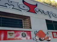 Preparando mural para el XX Aniversario de MOTAUROS