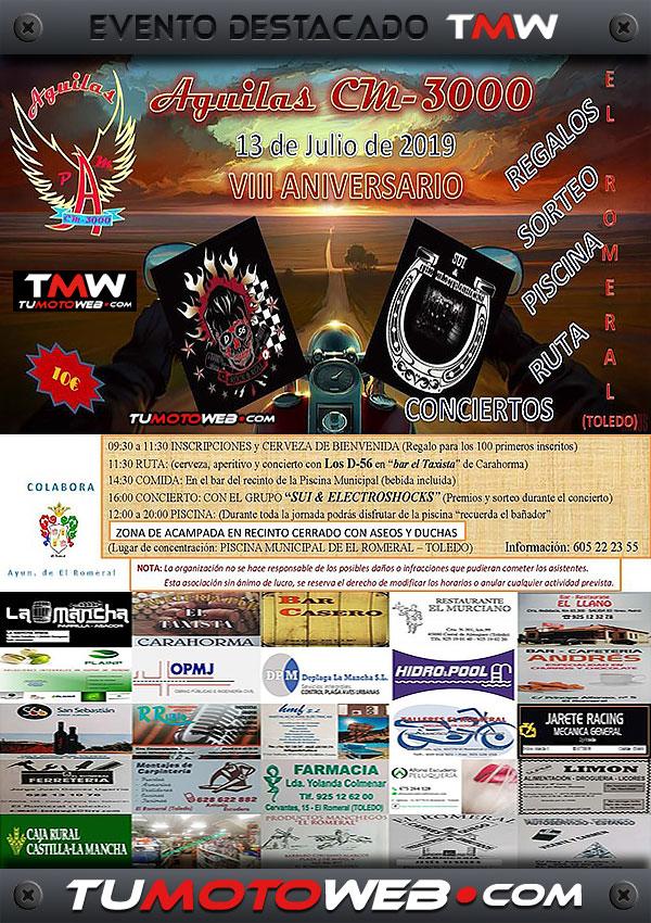 cartel-pm-aguilas-cm-3000-el-romeral-toledo-julio-2019