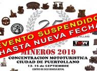 EVENTO SUSPENDIDO | XXV Concentración Mototurística Mineros 2019