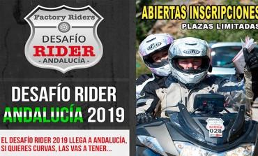 ¿Quieres Curvas? Pues las tendrás con el Desafío Rider Andalucía 2019