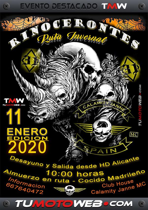 Cartel-Rinocerontes-Calamity-Janne-MC-Sureste-Alicante-Enero-2020