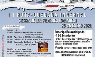 III Quedada Motera Invernal Sierra de Los Filabres (Bacares) 2020