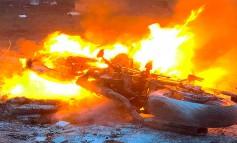 MOTAUROS 2020 | Que susto...!! Moto quemada en la hoguera