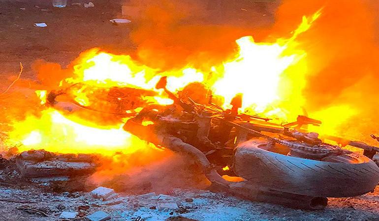 MOTAUROS 2020 | Que susto…!! Moto quemada en la hoguera