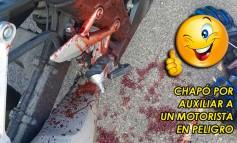 GUARDARRAILES | Policía Nacional salva la vida a un motorista tras chocar con un guardarrail